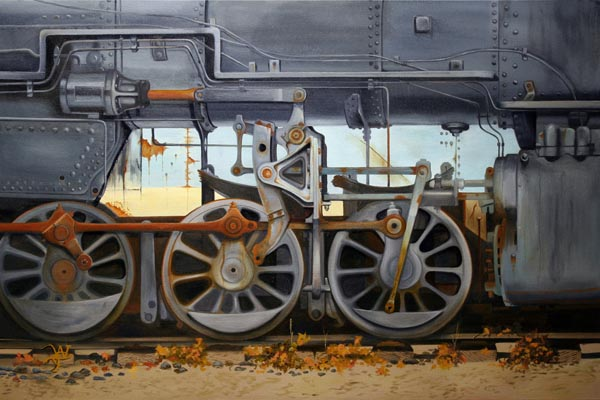 Broken Wheels - Oil on Canvas by William C. Turner