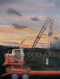 Destination Unknown - Oil on Canvas by William C. Turner