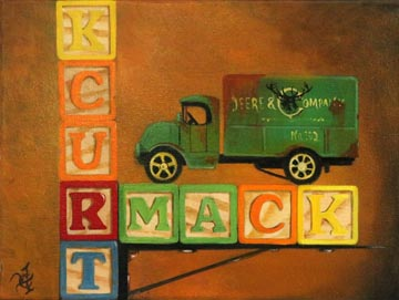 Mack Blocks - Oil on Canvas by William C. Turner