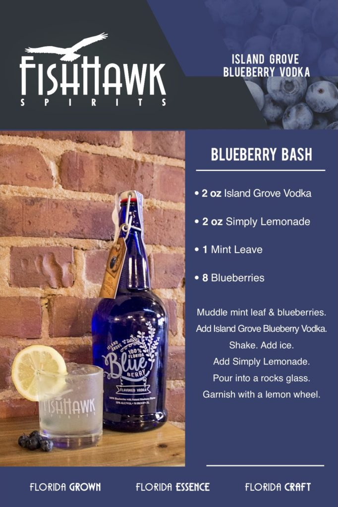 Island Grove Blueberry Vodka Blueberry Bash Recipe