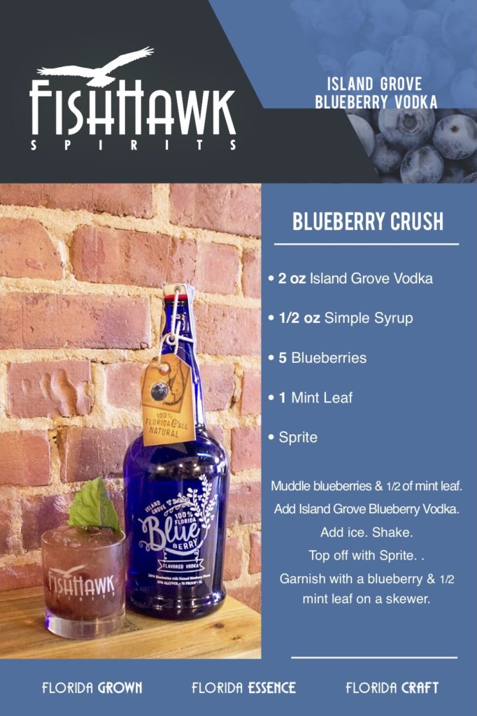 Island Grove Blueberry Vodka Blueberry Crush Recipe