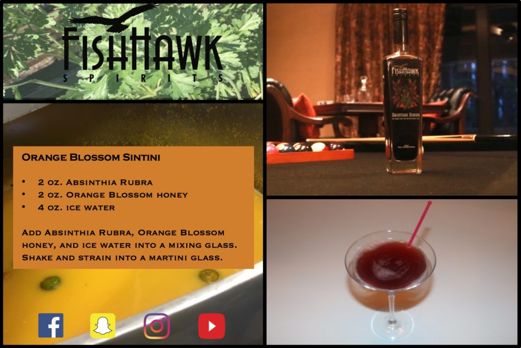 Orange Blossom Sintini Recipe Card