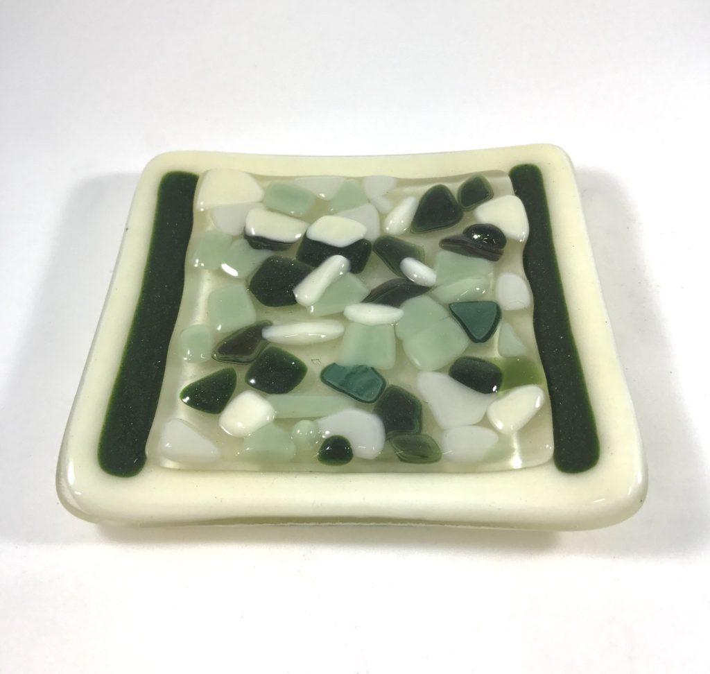 4x4'' vanilla pebble plate $20