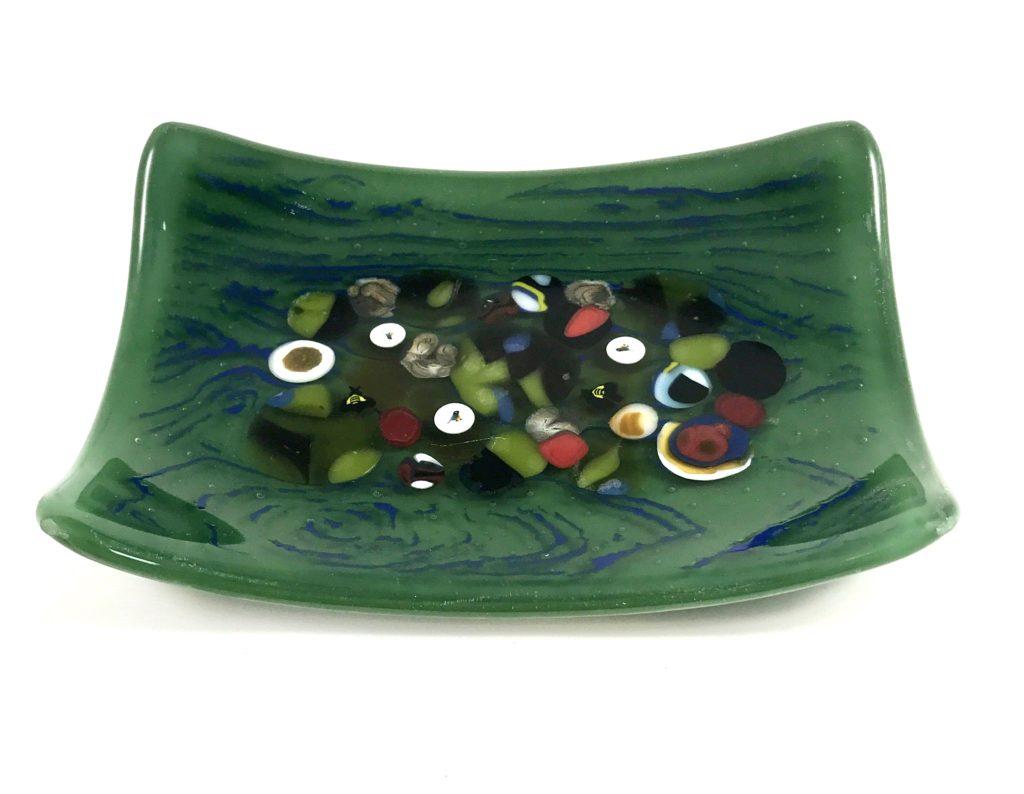4x6'' green dish $20