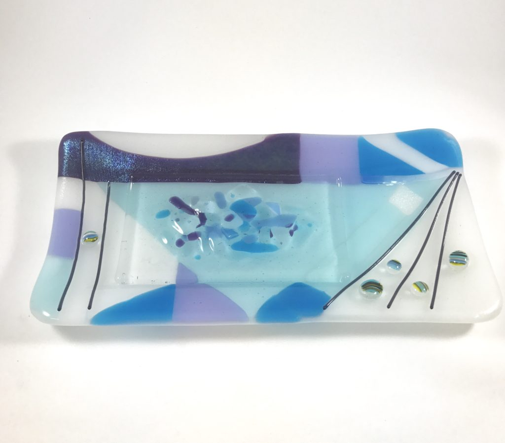 4 x 8½'' purple geometric plate $30 SOLD