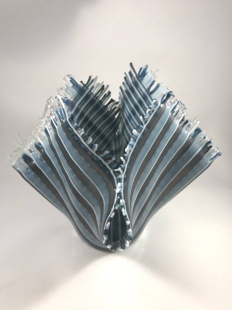 6x8'' steele and blue fabric $100