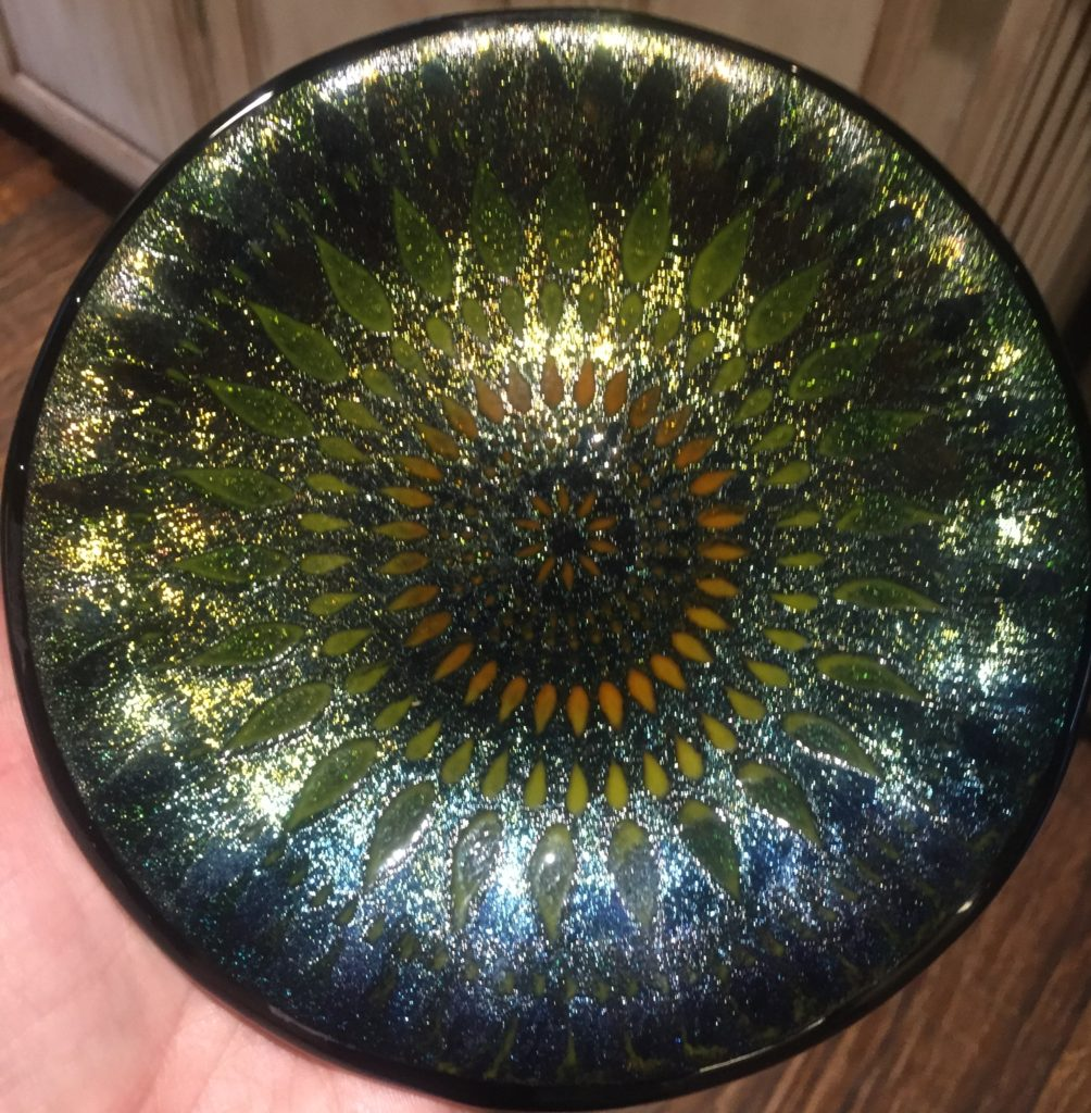 7'' round irid stencil SOLD