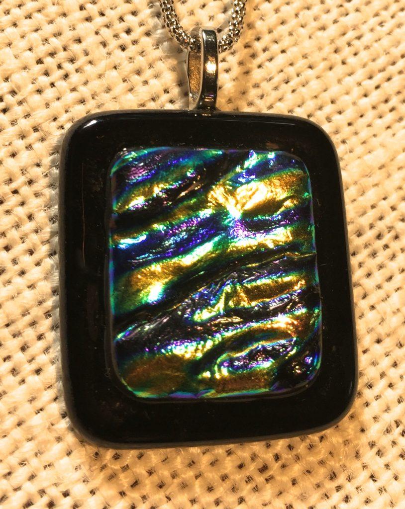Black and dichcro pendant SOLD