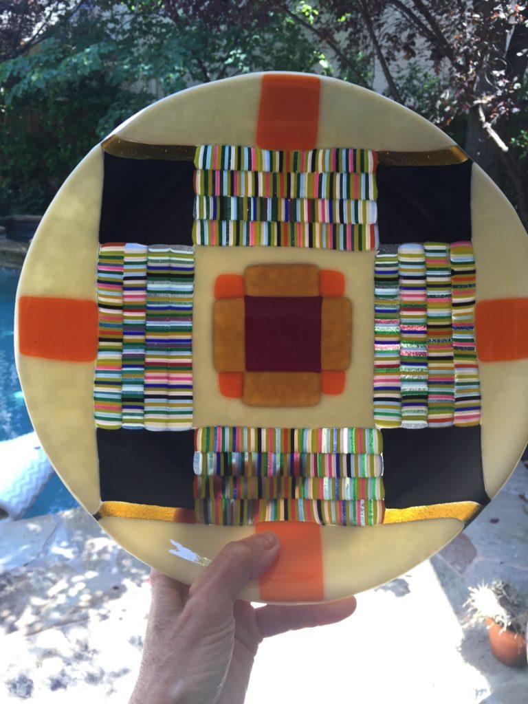 Round pattern plate GIFT