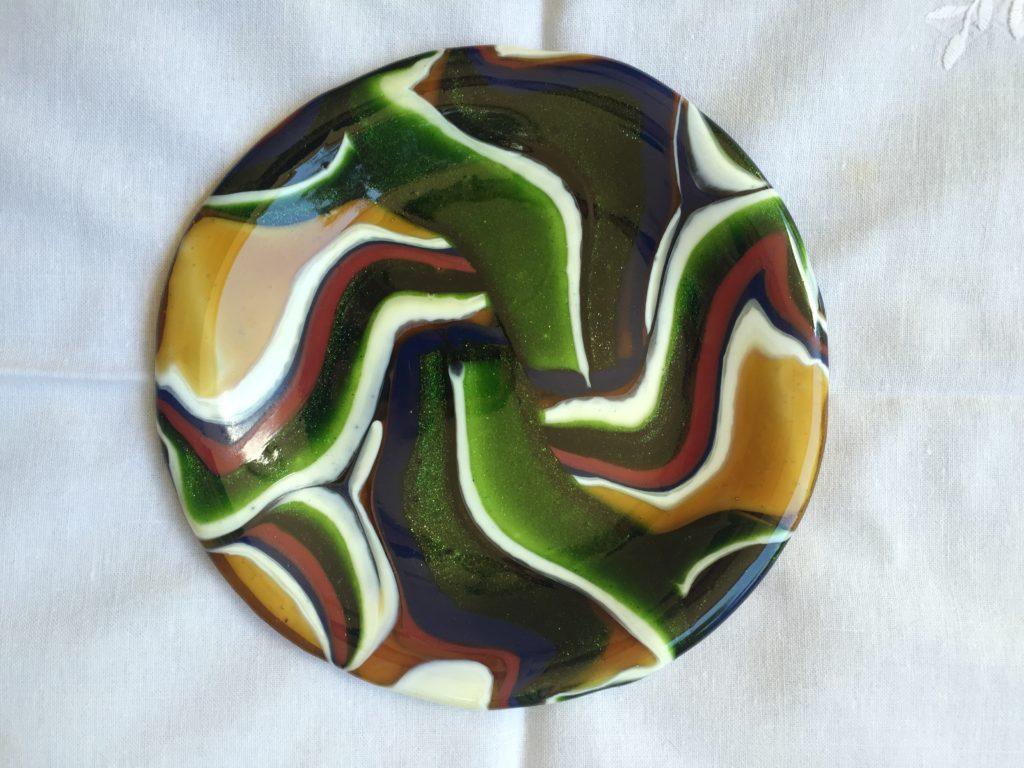 Round pattern bar plate GIFT