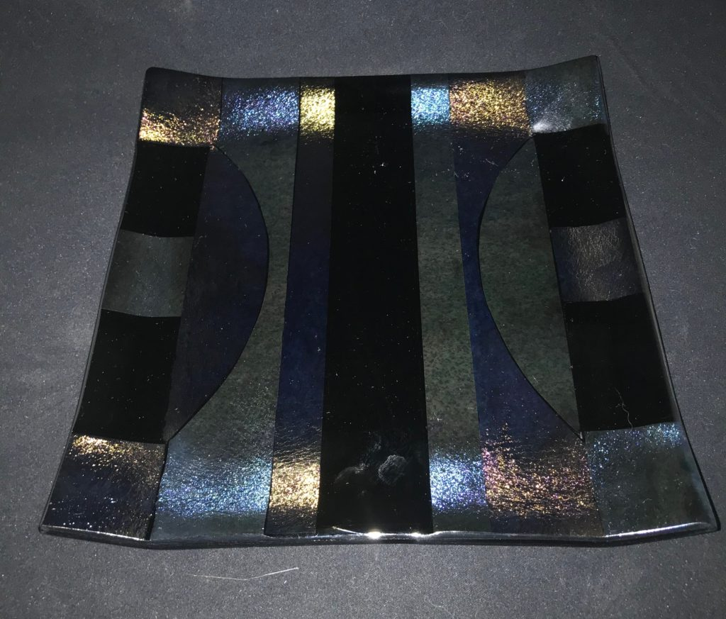 "8"" Irid plate $50 SOLD"