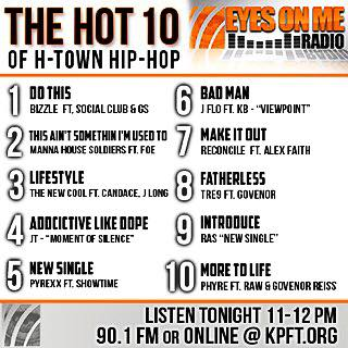 The Hot 10 of H-Town Hip Hop
