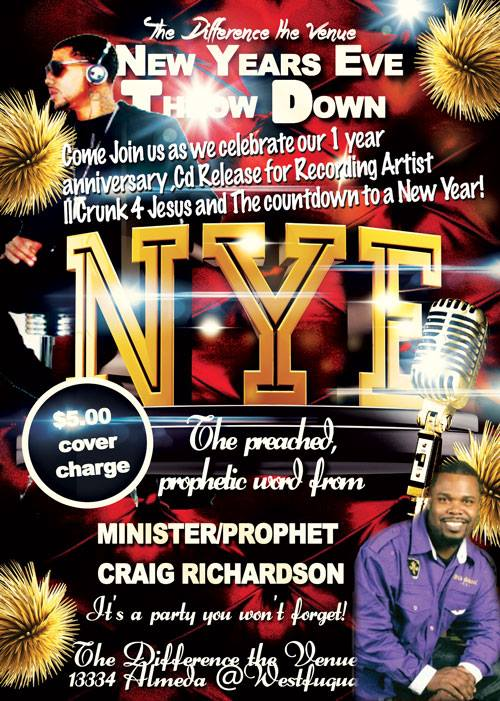 New Years Eve Album Release for II Crunk 4 Jesus