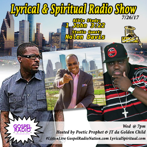 Lyrical & Spiritual Radio Show 64 with Nolen Davis