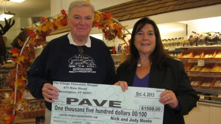 Peanut Butter Cup Brings in $1500 for PAVE!