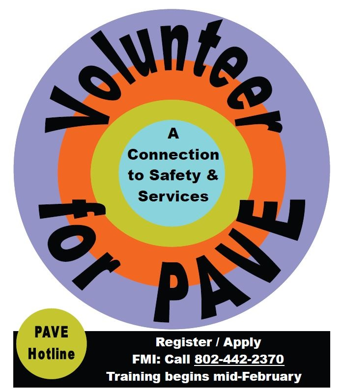 Sign Up for Feb. PAVE Volunteer Training