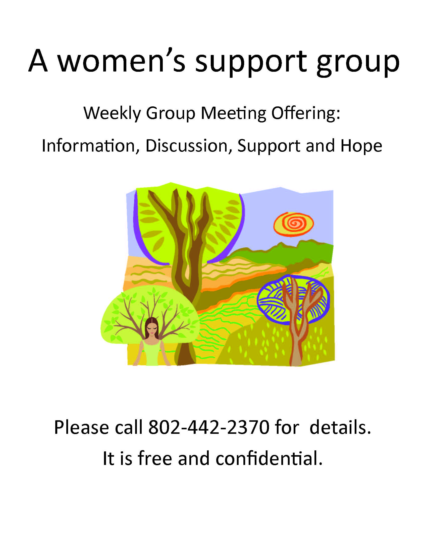 2013 Weekly support group - Flyer