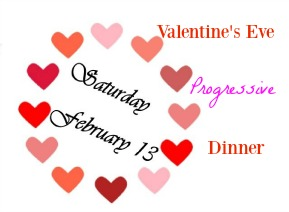 Valentine's Eve Progressive Dinner to Benefit PAVE!