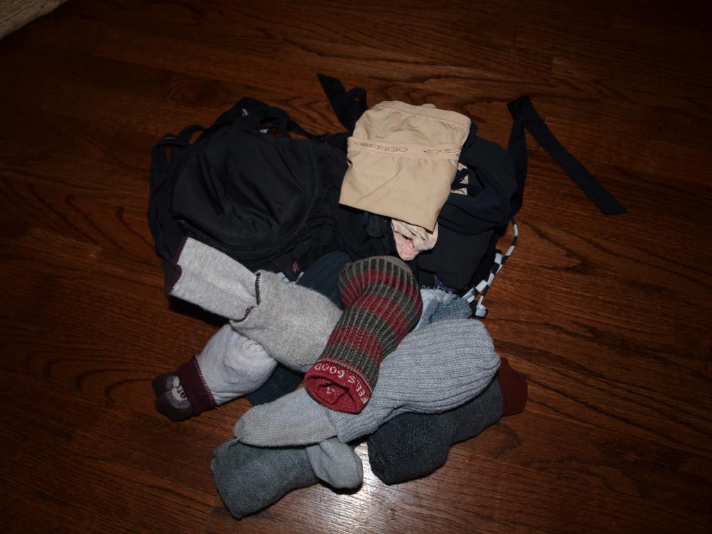 bundle of bras (and socks and undies)