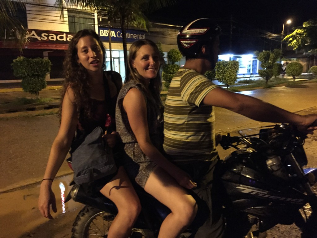 riding home together after a night of drinks and dancing