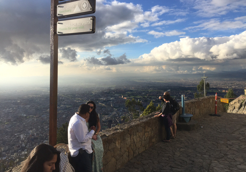 View from Montserrat in Bogota