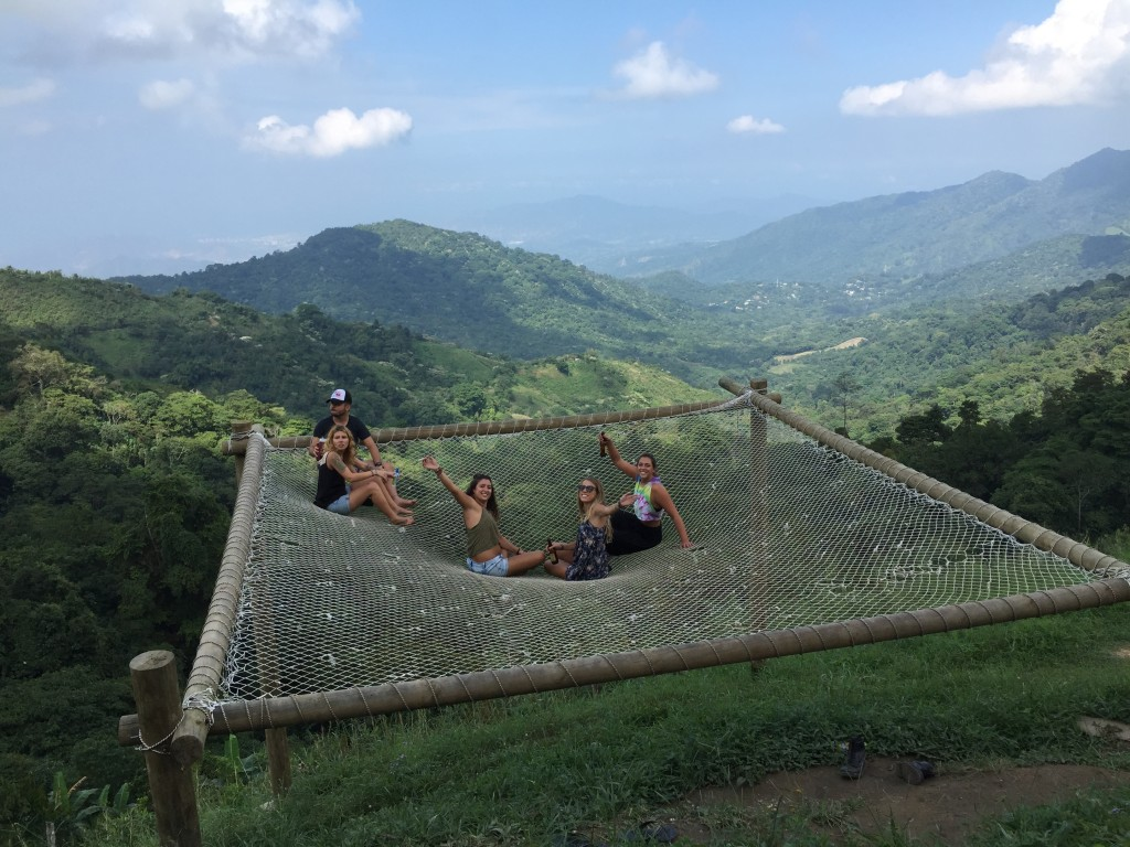 Cheers to Casa Elemento's giant hammock in the sky. Minca, Colombia