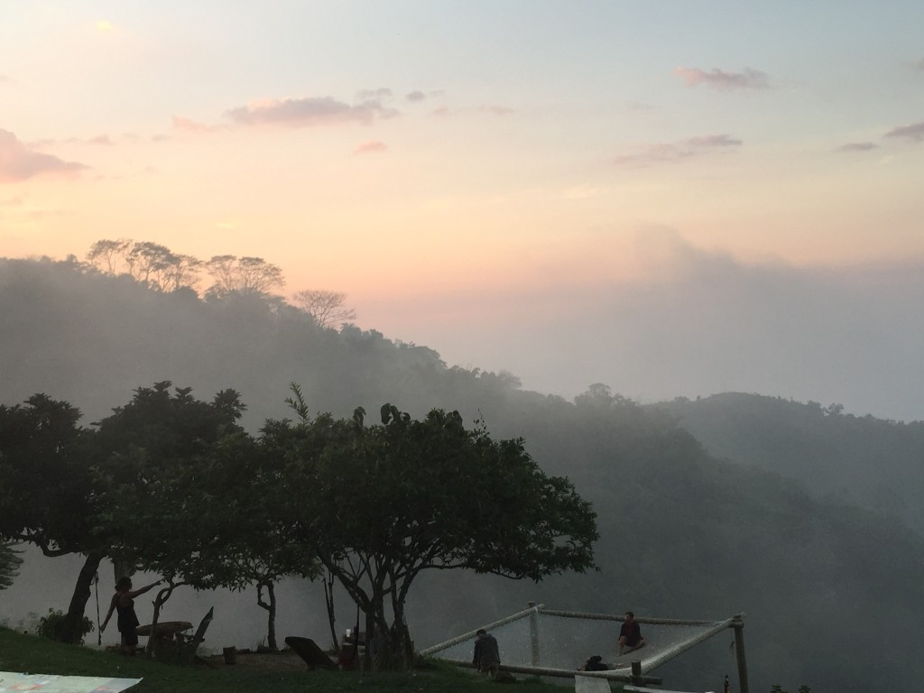 Misty sunset at Casa Elemento, Minca, Colombia