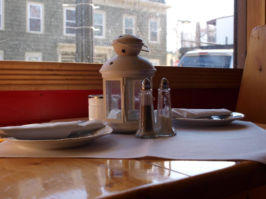 table settings at cafe polonia, boston