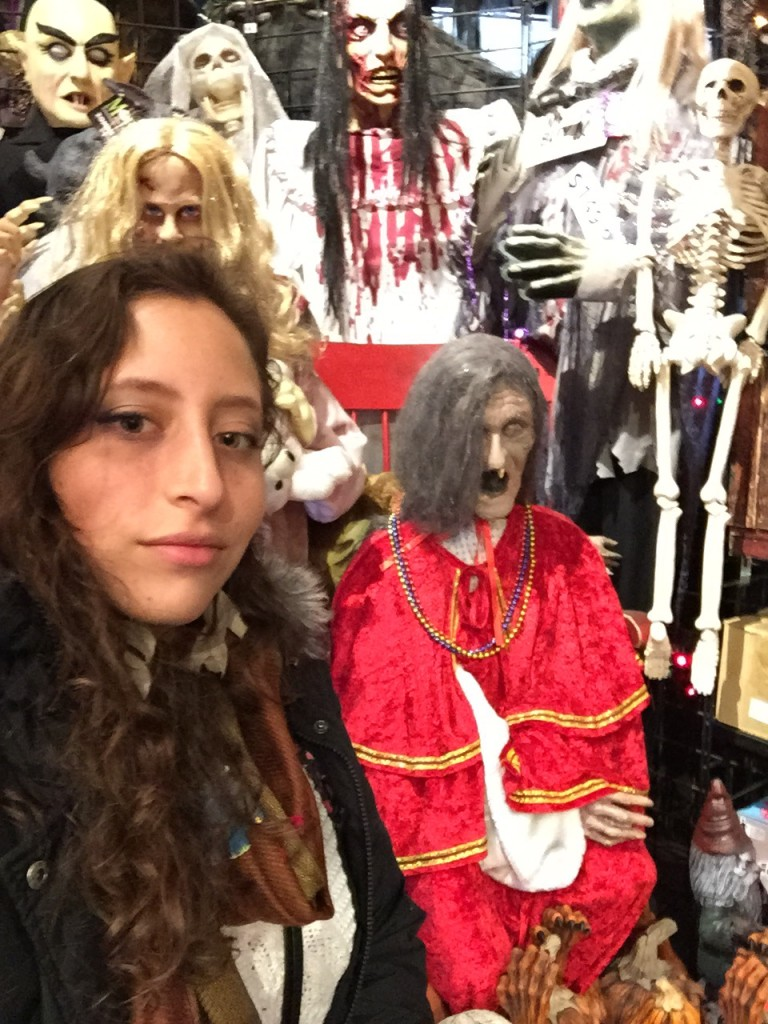 selfie at New York Costumes, East Village, New York City