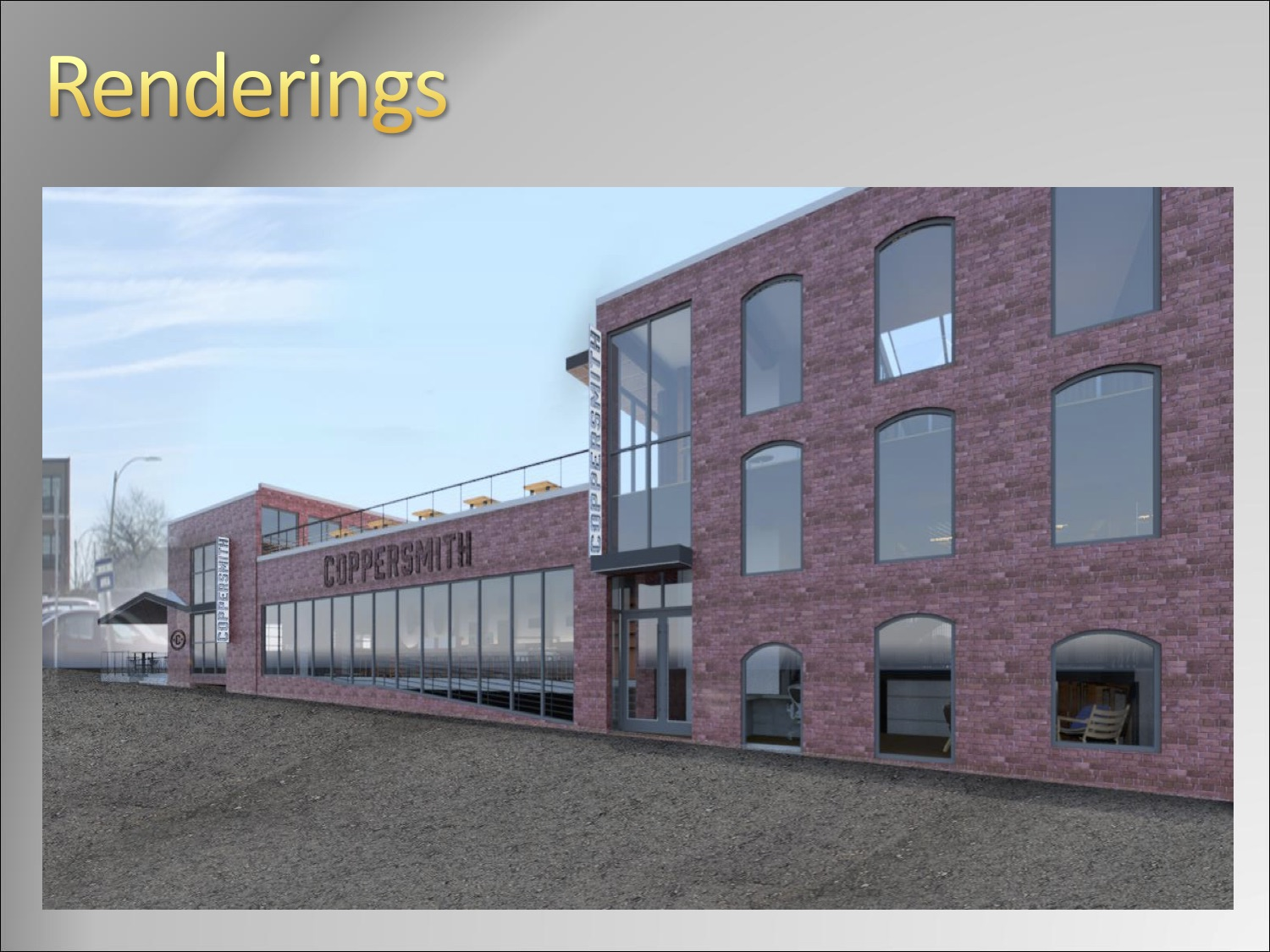 Coppersmith exterior rendering, South Boston
