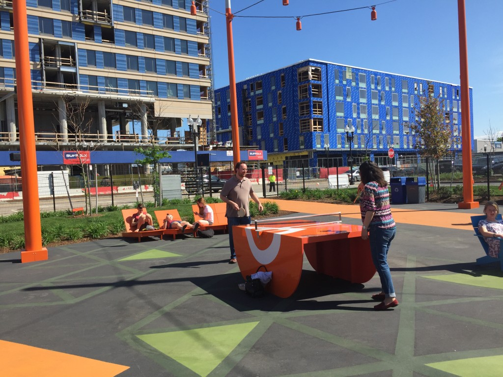 ping pong tables at The Lawn on D, South Boston