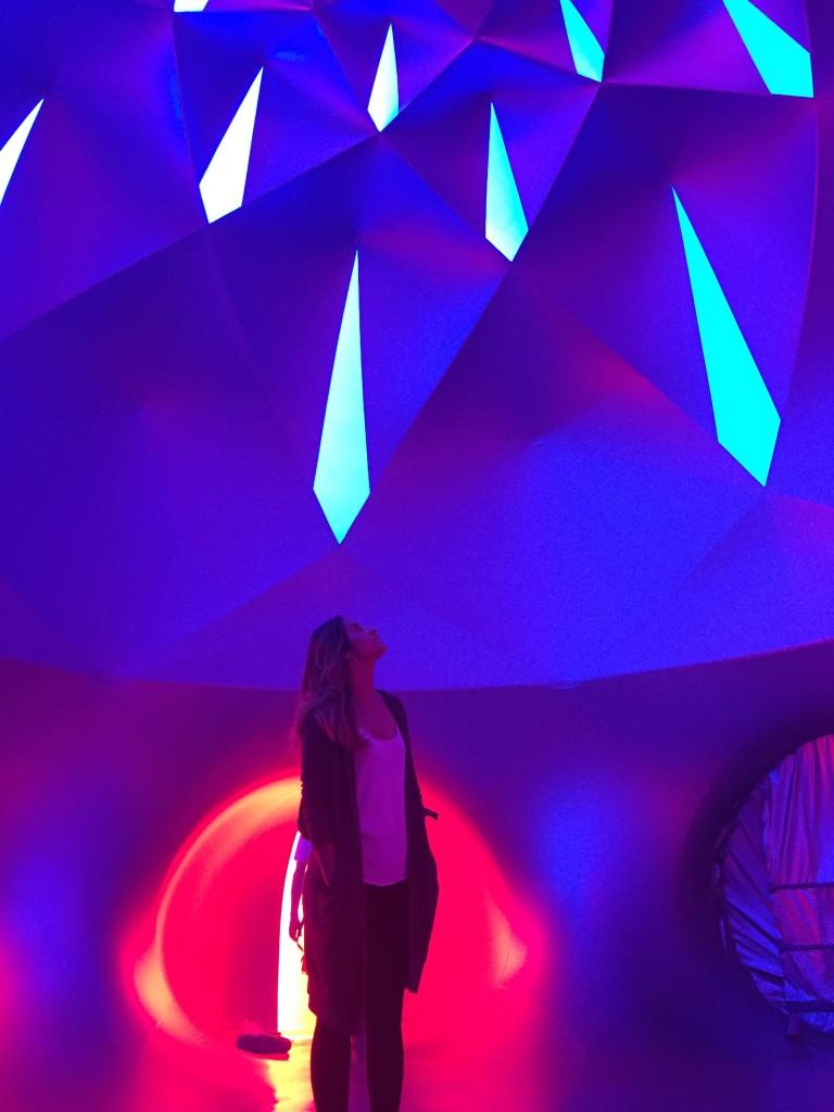 inside PENTALUM luminarium