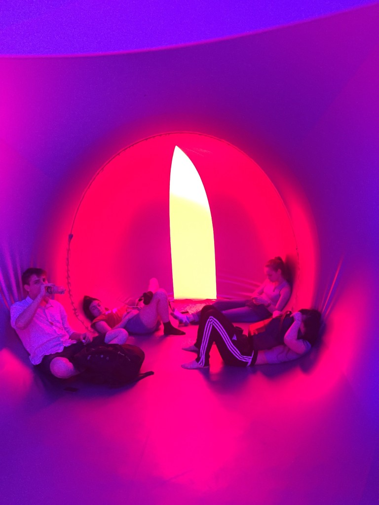 guests lounging in pods in PENTALUM, The Lawn on D, South Boston