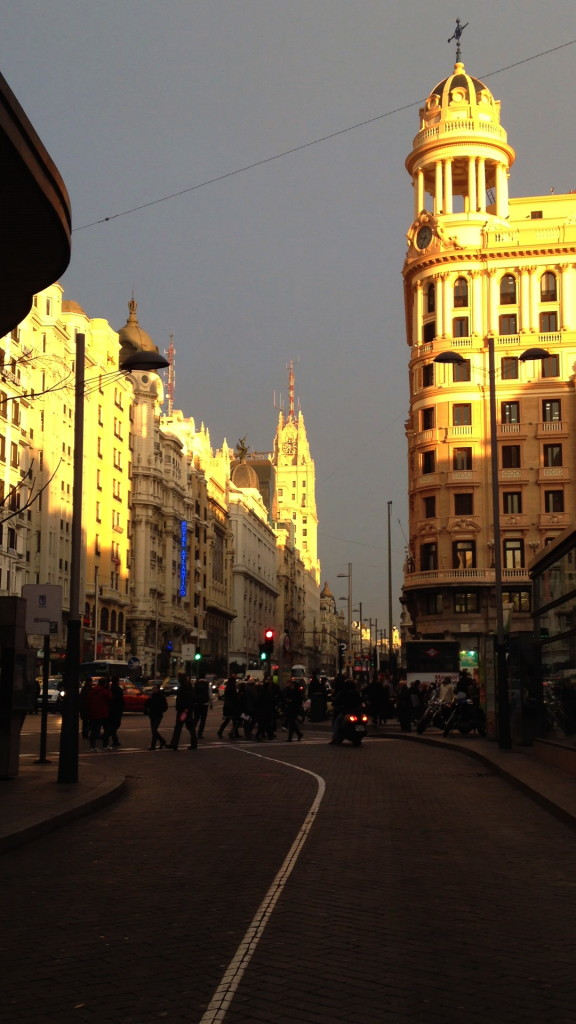 calle Gran Via, Madrid, Spain