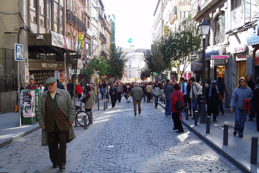 Calle Montera, Madrid, Spain
