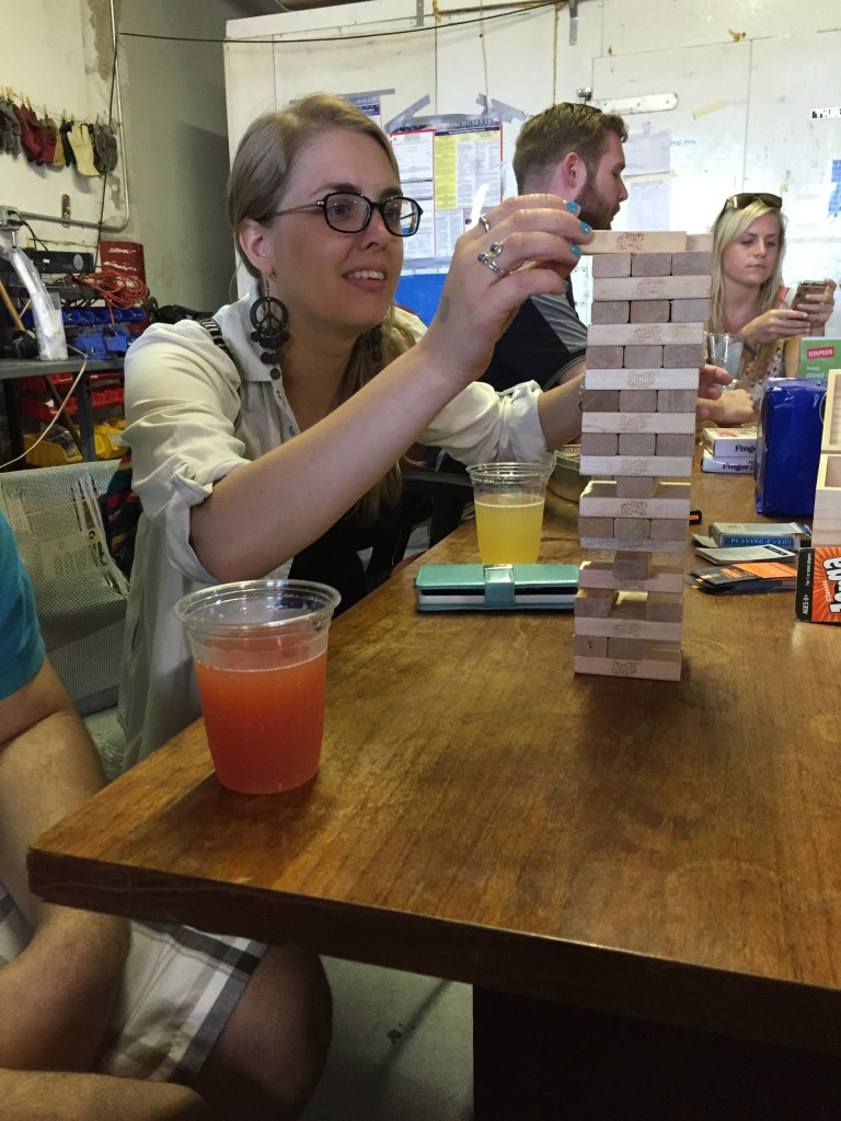 Jenga at the Downeast Cidery, Charlestown, MA