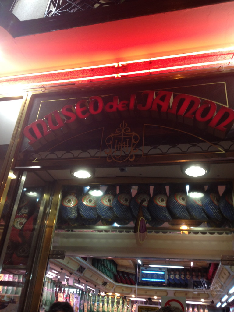 All types of ham are on display at the Museo del Jamón chain in Madrid