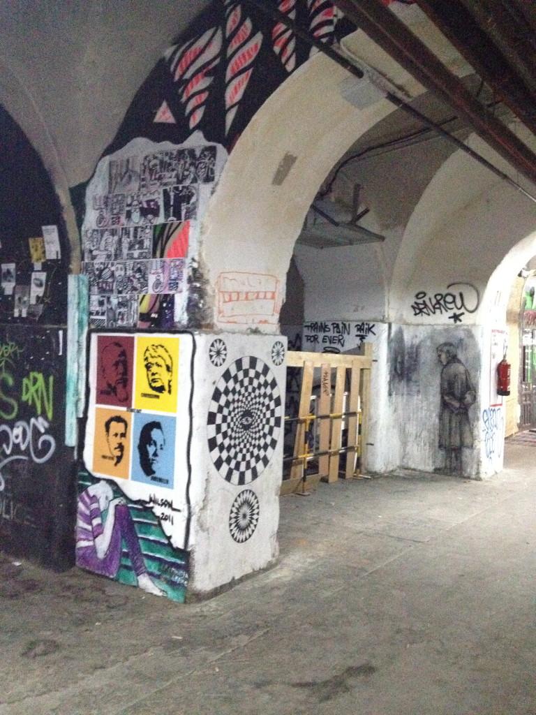 sick, artsy archway in la Tabacalera, Madrid