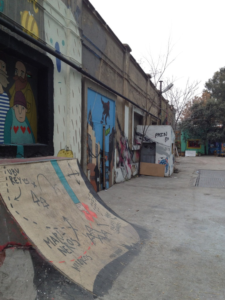 graffiti covered skate park, La Tabacalera, Madrid