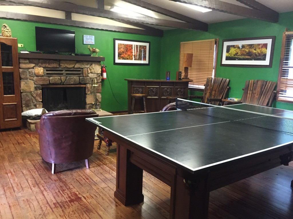 Games room at ITH Big Bear Mountain Adventure Lodge in California