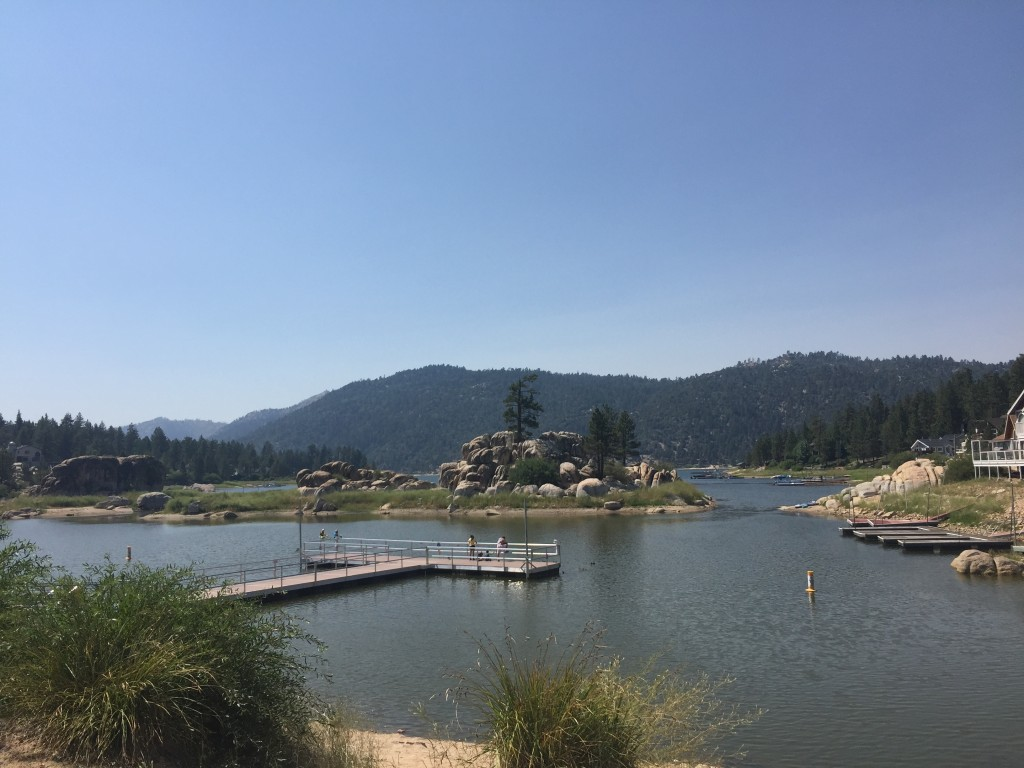 View of Boulder Bay from the Park in Big Bear Lake, California