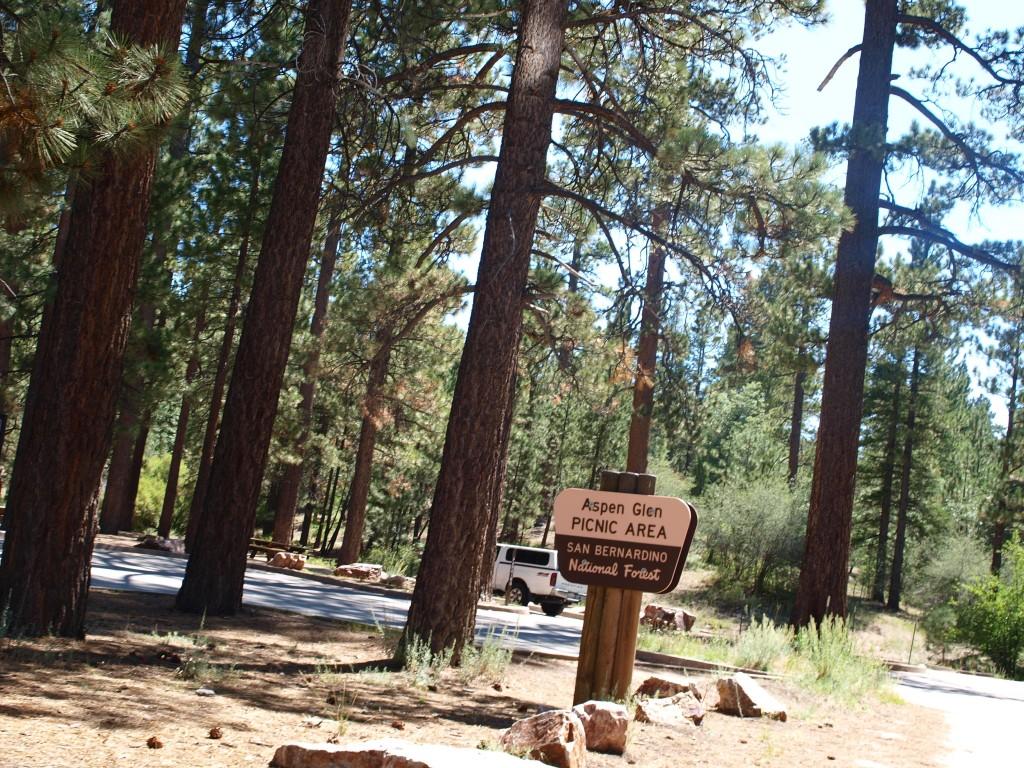 Aspen Glen picnic area, Pine Knot Trail, Big Bear Lake, California