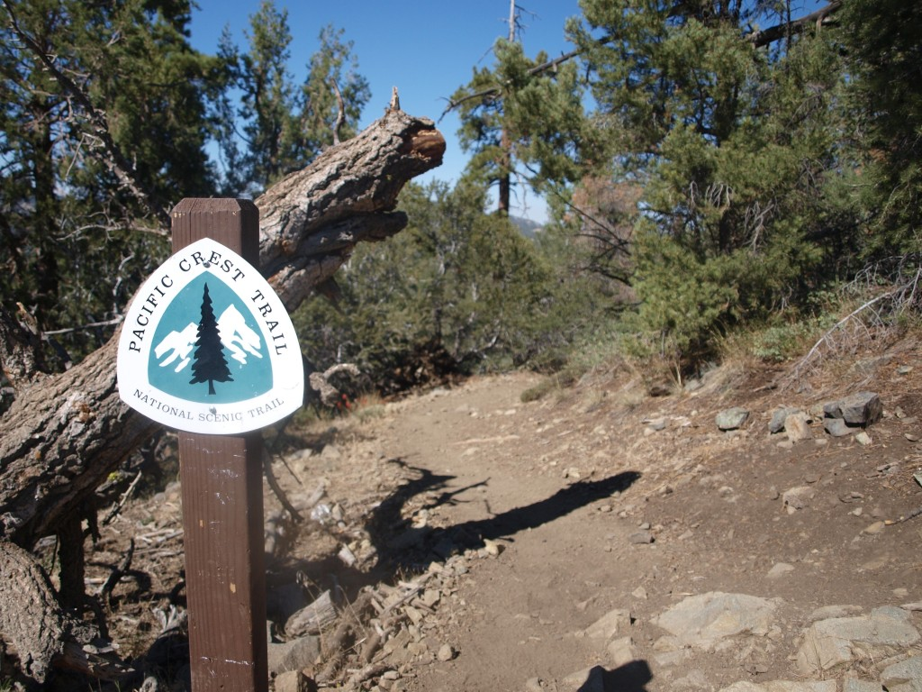 Where Cougar Crest meets with the Pacific Crest Trail, Big Bear Lake, California