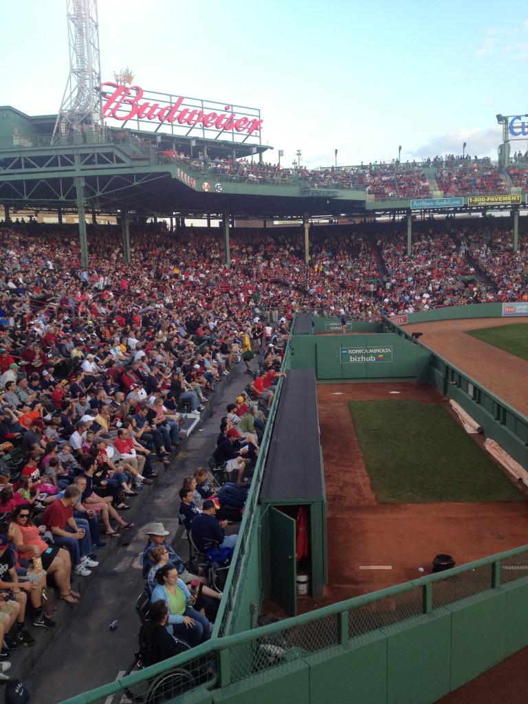 crowds at Fenway Park, Boston, MA