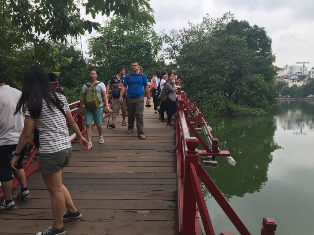 Huc Bridge, Ngoc Son Temple, Vietnam