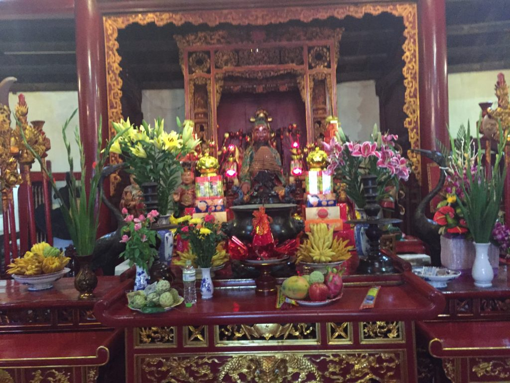 Buddhist offerings, Ngoc Son Temple, Hanoi, Vietnam