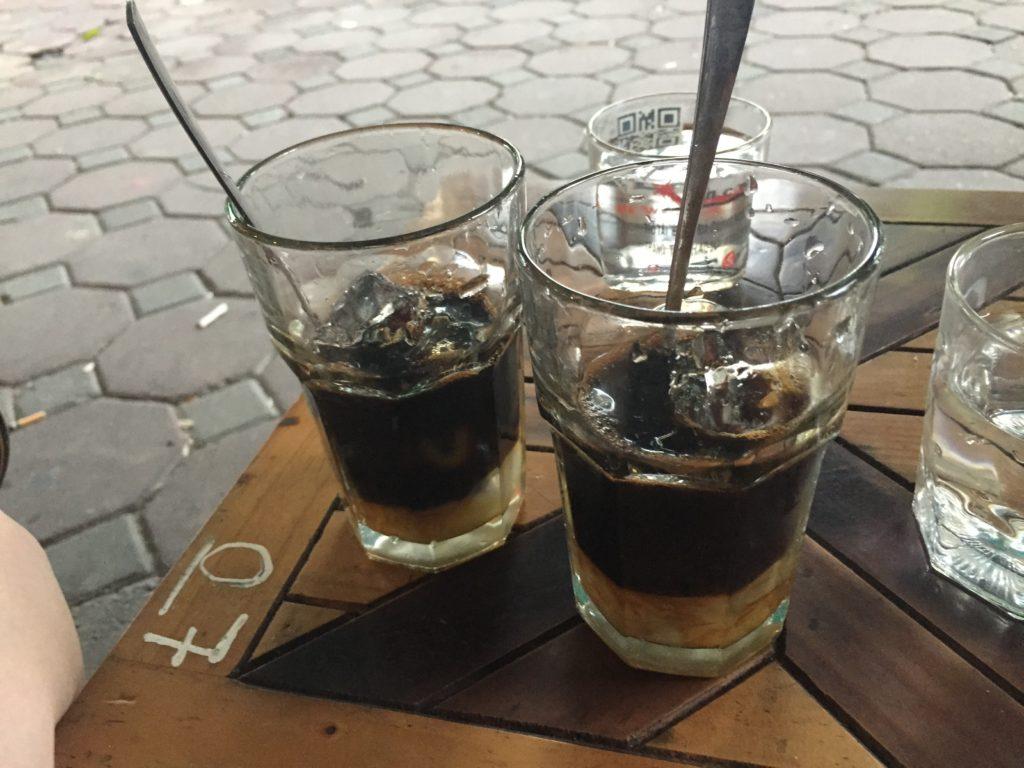 Vietnamese iced coffee, Hanoi, Vietnam