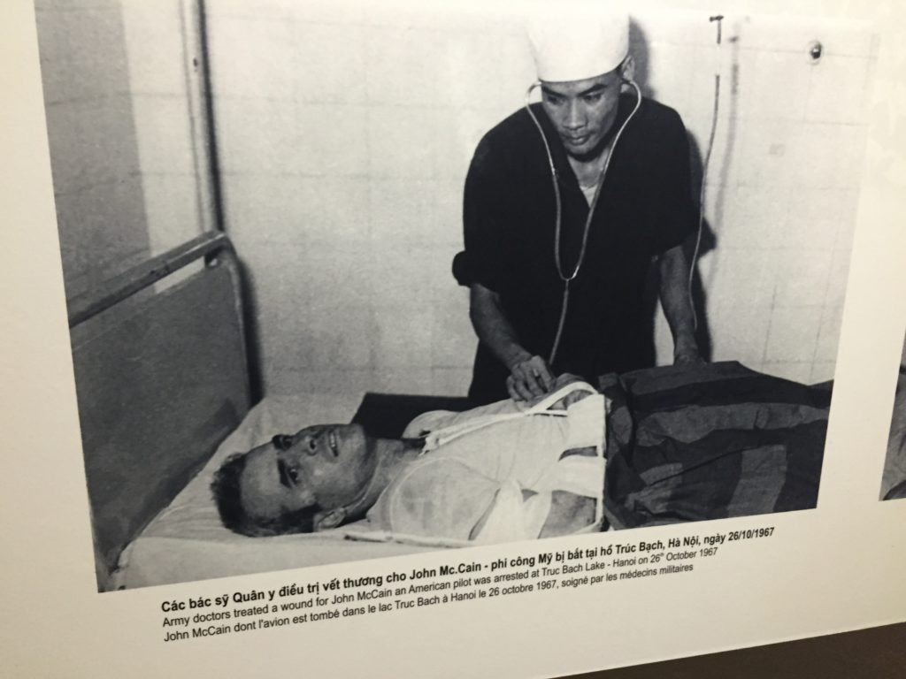 Photo of John McCain being treated in Hoa Lo Prison, Hanoi, Vietnam