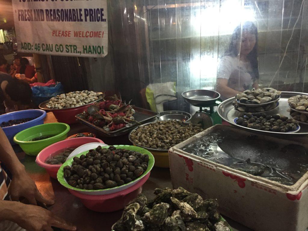 Shellfish in Hanoi, Vietnam
