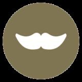icon representing moustache